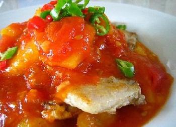 как приготовить рыбу под томатным соусом