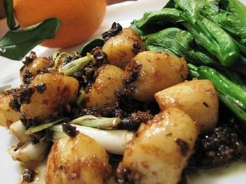 """Морские гребешки под соусом """"Шампань"""" – кулинарный рецепт"""