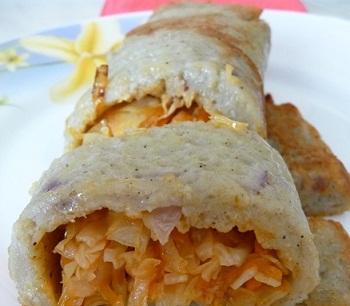Рецепты картофельных рулетиков с капустой