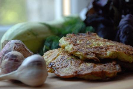 кабачки с картошкой оладьи рецепт с фото #13