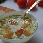 Сырный суп с чесночными сухариками: рецепт с пошаговым фото