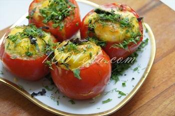 """Омлет в помидоре """"Завтрак для любимого"""": рецепт с пошаговым фото"""