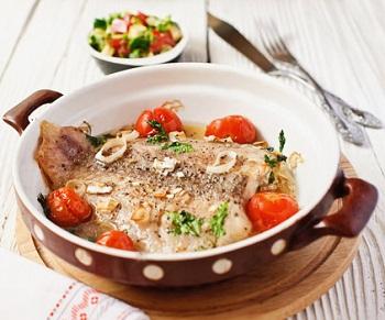Рецепт белой рыбы с овощной сальсой