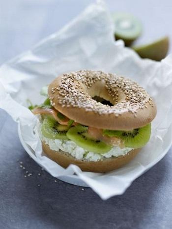 Сэндвичи с лососем и киви, пошаговый рецепт с фото