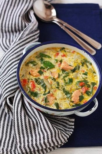 Рецепт сырного супа с грибами и форелью