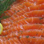 Форель, маринованная с апельсином