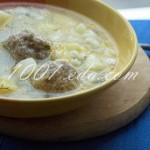 Суп с сырными шариками: рецепт с пошаговым фото
