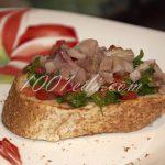 Брускетта с сальсой из помидоров и сельдью: рецепт с пошаговым фото