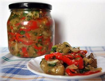 Салаты из баклажан - простые рецепты салатов на зиму без