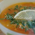 Томатный суп с колбасой и сыром фета: рецепт с пошаговым фото