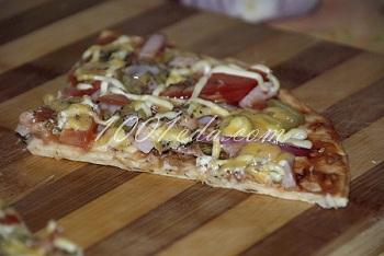 Вариант приготовления пиццы из готовых коржей