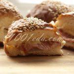 Бутерброд в булочке с ветчиной и сыром: рецепт с пошаговым фото