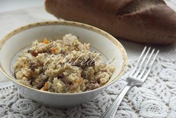 мультиварка рецепт каши с грибами