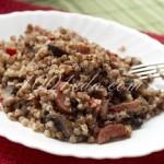 Гречка с салями и шампиньонами: рецепт с пошаговым фото