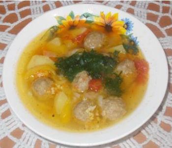 Суп с говяжьими фрикадельками рецепт