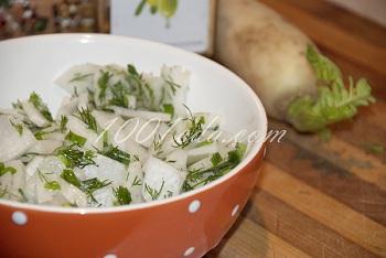 фото рецепт салаты из зеленый редька