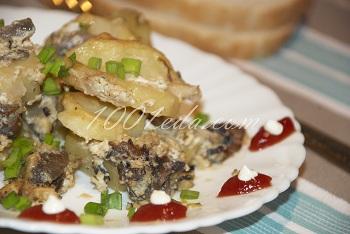 Рецепт запеченного картофеля с грибами в сметане