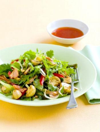 Рецепт овощного салата с грибами