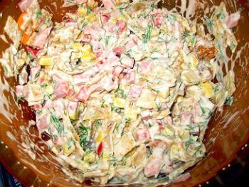 Салаты с блинами рецепты с фото