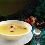 Густой суп с миндалем и рисом