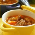 Сливочный суп с грибами и говядиной
