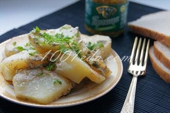 рецепт картофель грибной соус