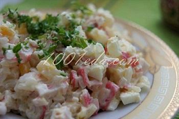 Рецепт вкусного салата с крабовыми палочками
