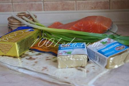 Роллы с рыбой, капустой и морковью, пошаговый рецепт с фото