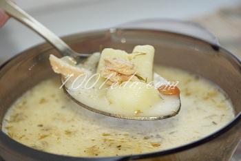 Сырный суп с рисом и лососем – кулинарный рецепт