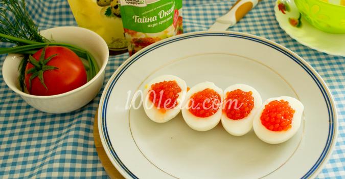 Фаршированные яйца под майонезом