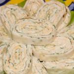 Рулет из лаваша с плавленым сыром