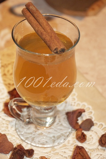 Рецепт яблочного компота с апельсином и корицей