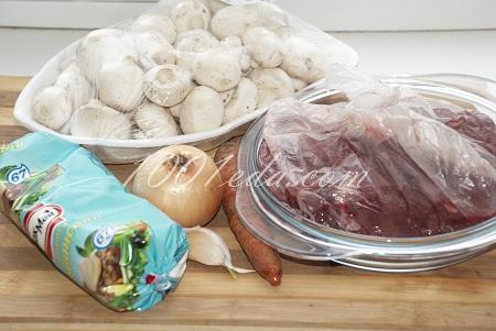 Печень куриная шампиньоны рецепт с пошагово в