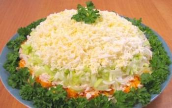 Салат с курицей и кукурузой и грецким орехом рецепт