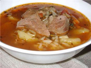 Как приготовить суп харчо с картошкой