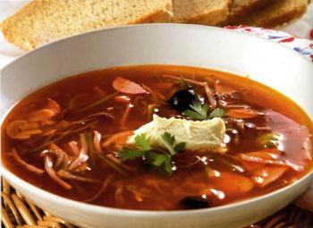 Рецепт суп мясная солянка