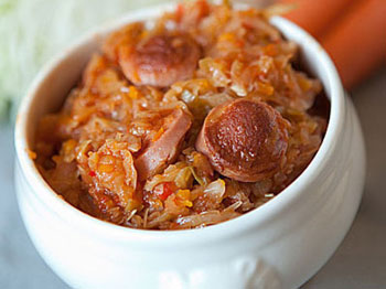 солянка с капустой и с колбасой рецепт с фото