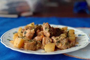 рецепты блюд курица с грибами и картошкой