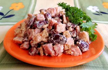 салат из фасоли с сухариками рецепт с фото