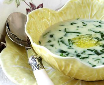 Весенний французский суп-пюре со щавелем