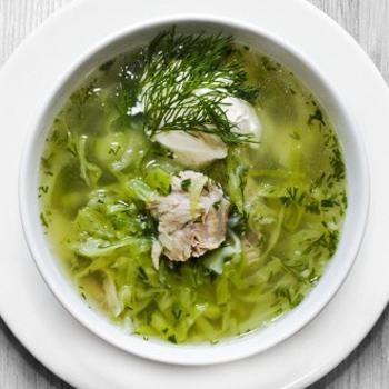 щи из кислой зеленой капусты рецепт