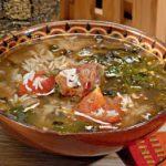 Суп в харчо из баранины в мультиварке