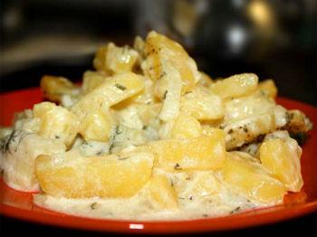 Слоеная картошка в мультиварке