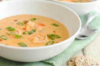 Рецепт супа с креветками в мультиварке
