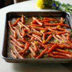 Молодая морковь, запеченная в бальзамическом уксусе