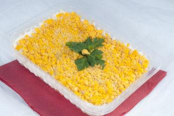 """Рецепт приготовления салата """"Мимоза с рисом"""