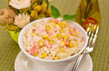 Салаты с рисом фото рецепты