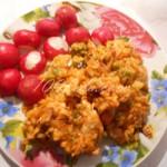 Имбирный рис с овощами и вареники с вишней в мультиварке