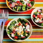 Пасхальный овощной салат со сметанной заправкой
