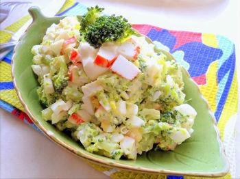салат из крабовых палочек и брокколи рецепт с фото